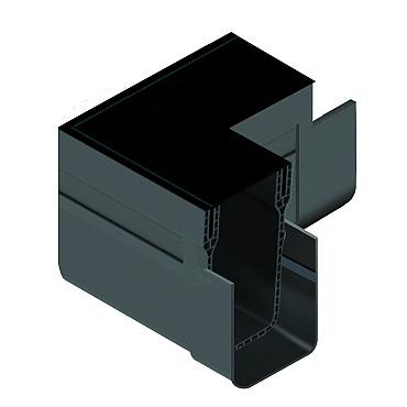 ACO slimline hoekstuk, incl. zwart alu designrooster