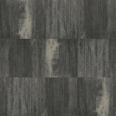 Terrastegel+ 60x60x4 cm Grijs/Zwart