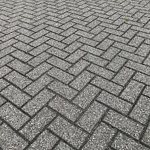 1000m2 betonklinkers, 8cm dik, grijs, dordrecht