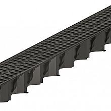 ACO Hexaline2.0gootzwart,L=1000mm, incl.zwartkunststofrooster