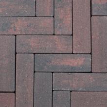 Strackstone+ 21x7x8 cm Wijnrood-antraciet