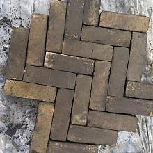 Oude Gebakken Klinkers, Dikformaat, Geel-Brons
